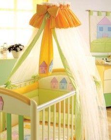 Как сшить балдахин на детскую кроватку: выбор ткани и