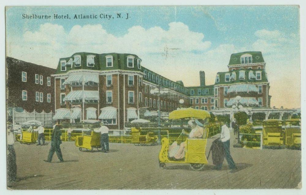 041810fp rolling chair shelburne hotel atlantic city nj postcard