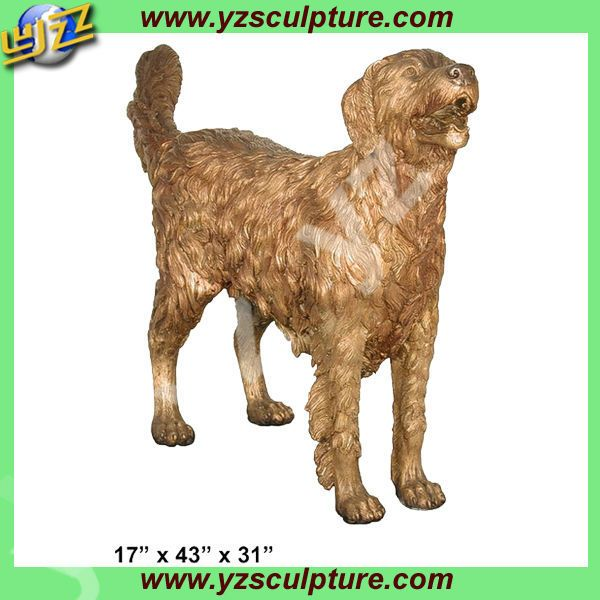 decorative casting bronze golden retriever for sale, View decorative bronze golden retriever, YZ Sculpture, YZ Sculpture Product Details from Shijiazhuang Yuanzhao Import & Export Co., Ltd. on Alibaba.com
