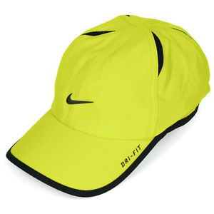 buy popular 47369 56aa1 Nike Dri-FIT Hat Neon   NWT-NIKE-Dri-Fit-Feather-Light-Running-Tennis-Hat- Cap-NEON-GREEN-BLACK .