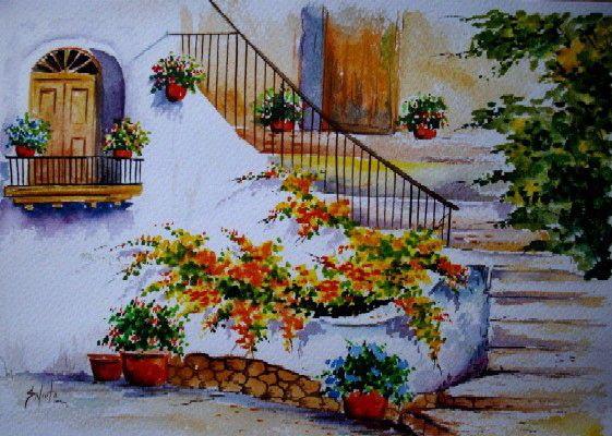 Paisajista costumbrista acuarelas cuadros paisajes for Papel pintado paisajes