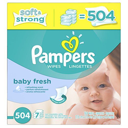 Scented Pampers Soft Care Baby Fresh Wipes