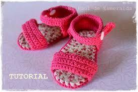 Resultado de imagen para sandalias para beba en crochet