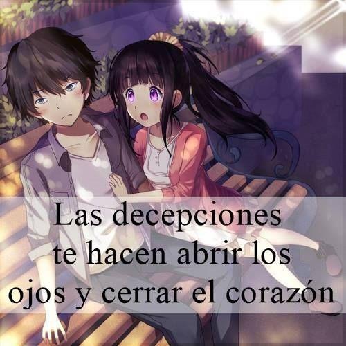 Frase Para Una Decepcion Amorosa Animes De Amor Decepciones