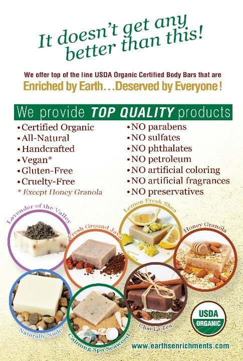 It doesn't get any better than this! We offer top of the line organic and natural skincare products. Check it our website for our FREE SHIPPING!  http://earthsenrichments.com/