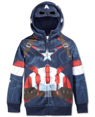 81dabb88ecd0 Marvel Little Boys  Captain America Hoodie