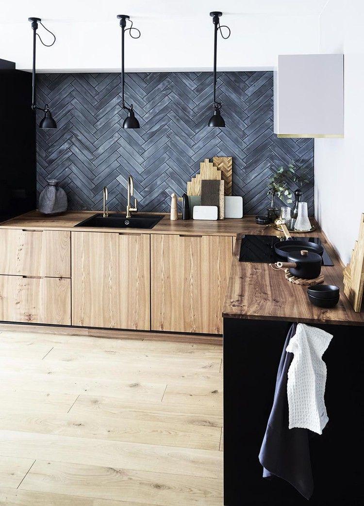 Warning These Kitchens Will Sell You On A Black Slate Backsplash Hunker Slate Backsplash Modern Backsplash Modern Kitchen Renovation