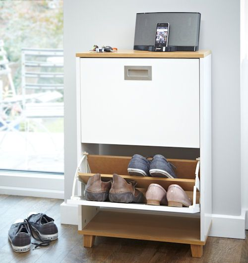 Merton Shoe Storage Cabinet   2 Drawer At Store. Stylish High Quality  Wooden 2 Drawer Shoe Cabinet With A Choice Of Oak Or Walnut Detailing.
