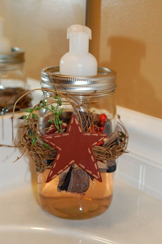 Mason Jar Soap Dispenser - Primitive