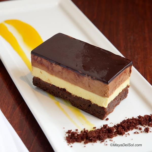 Pastel De Fruta Pasion Chocolate Mousse Passion Fruit Brownie Just Desserts Desserts Plated Desserts