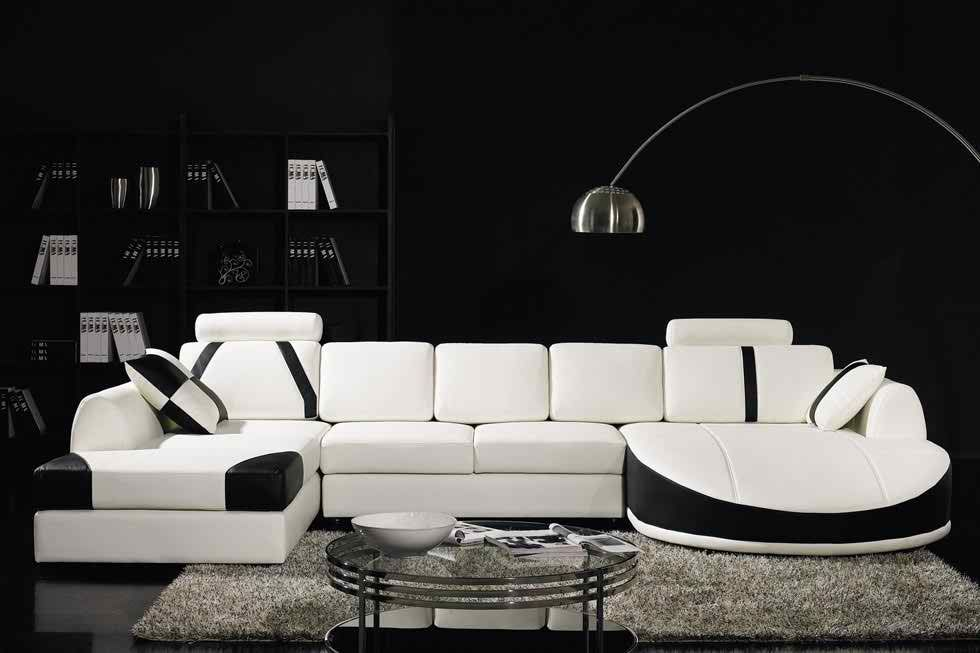 Ex Display Butterfly White And Black Corner Leather Sofa Suite For Details Visit Www Sofa White Sofa Design Leather Corner Sofa Modern Leather Sectional Sofas