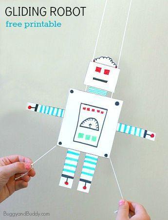STEM Activity for Kids: Free Printable Gliding Robot | Felix