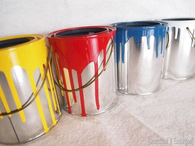 mini dipped paint can planters | diy | pinterest | paint cans