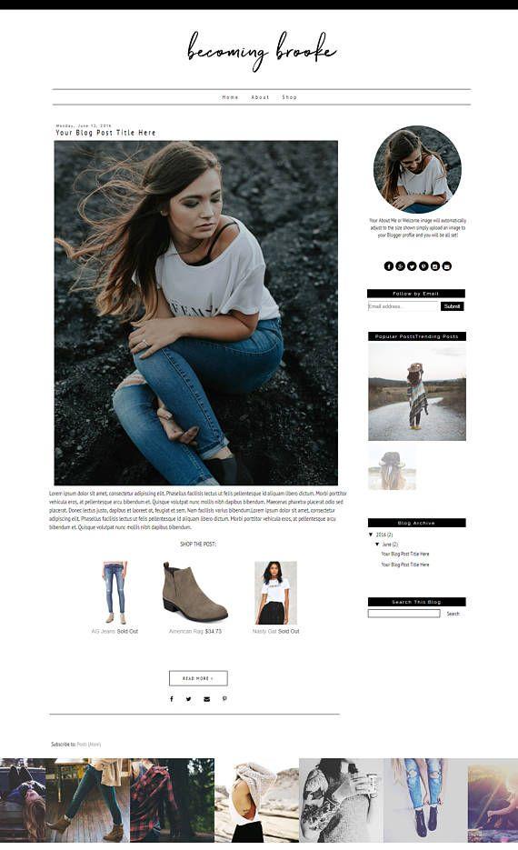 Fashion Blogger Template - Lifestyle Blogger Template - Minimal