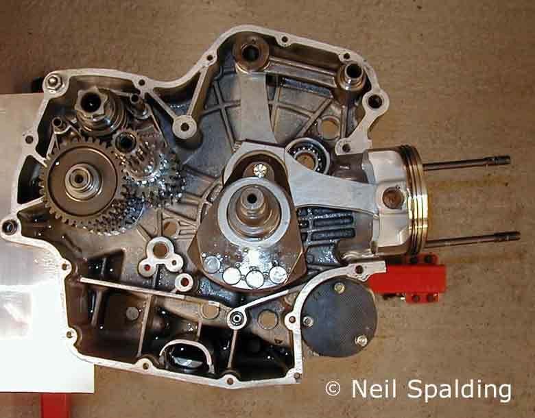 Ducati Supermono Engine Cutaway