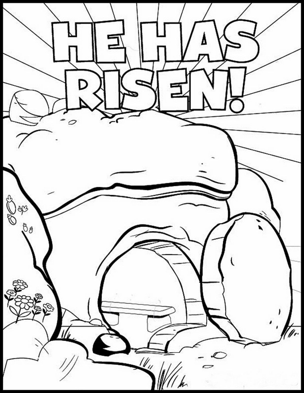 HE HAS RISEN coloring page Easter sunday school, Sunday