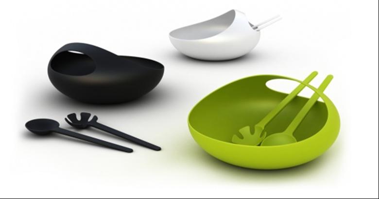Salad bowl and server by Joseph Joseph