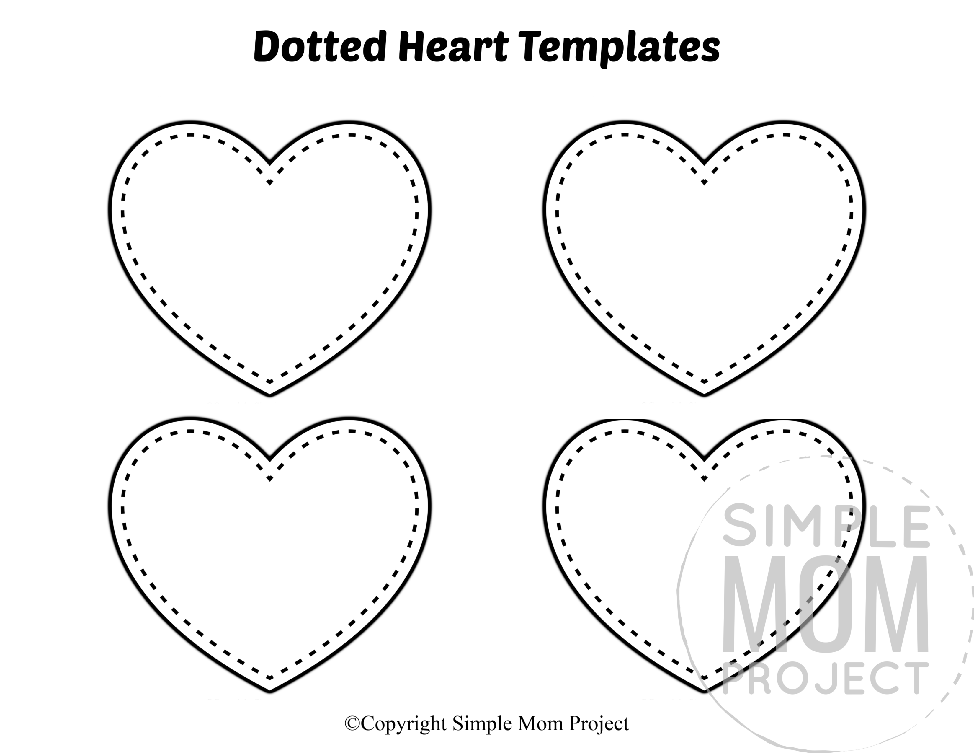 Free Printable Small Heart Shape Templates in 2020 (With