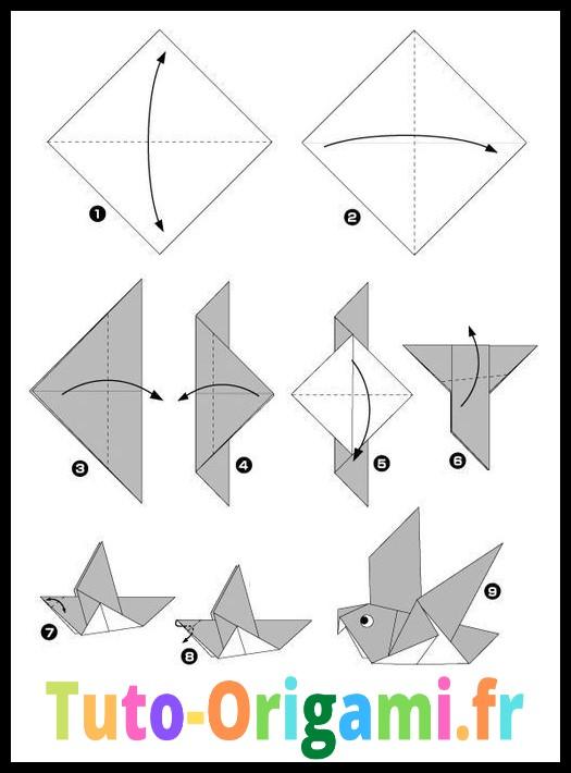Venez Decouvrir Ce Magnifique Pliage D Oiseau Sur Notre Site De Tuto D Origami Nos Tutoriels Sont Simple Et Gratuit Alo Oiseau Origami Origami Animaux Origami