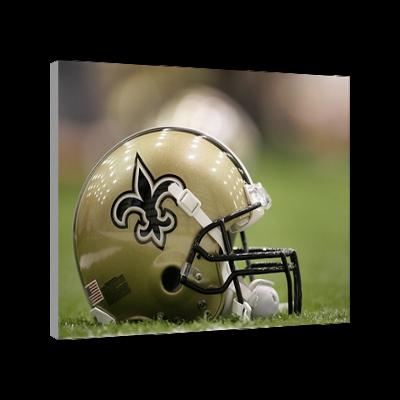 New Orleans Saints Football Helmet Canvas Art New