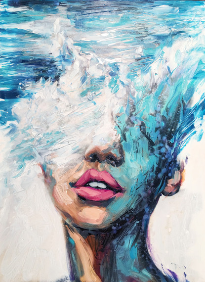 Philly's Young Artist, Lindsay Rapp, On Female Subjects, Crashing Waves And Owning Her Own Gallery | HuffPost
