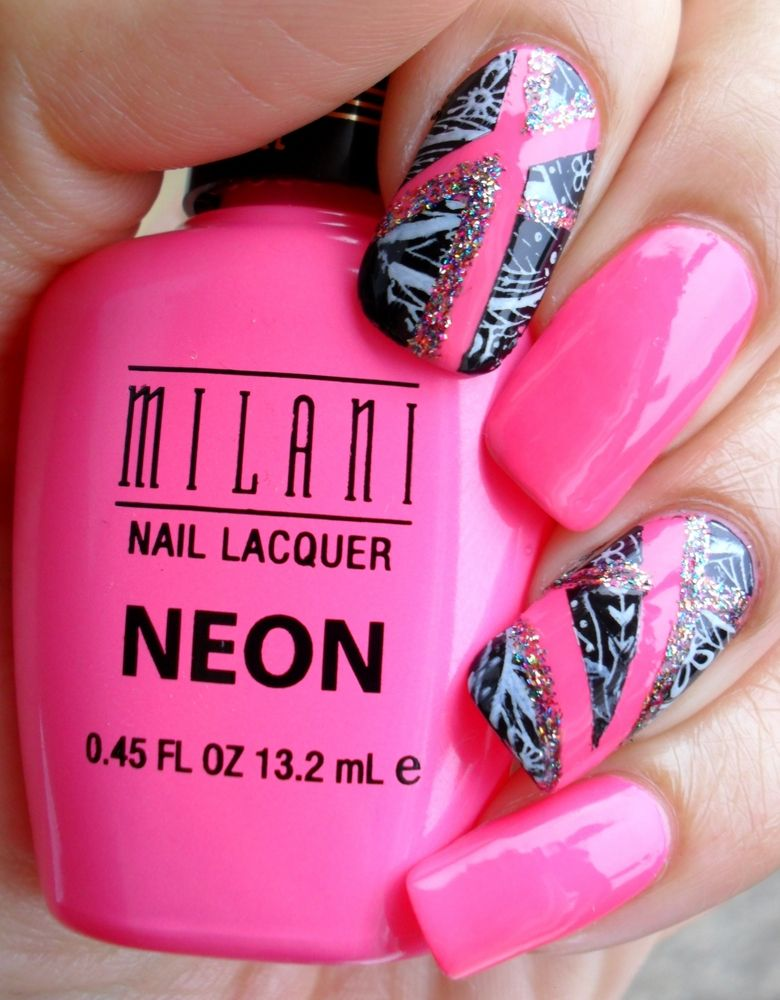 Ash-Lilly\'s Lacquer Lust: Milani Neon Pink and a little tutorial ...