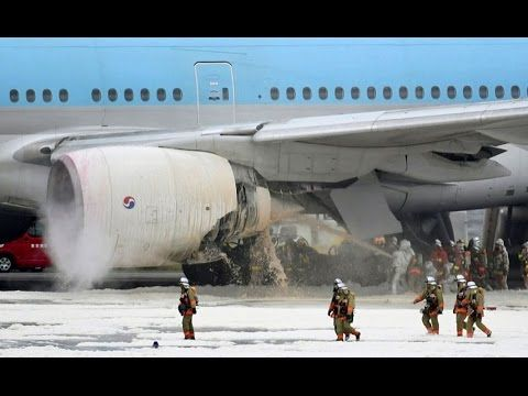 Korean Air Boeing 777 catches fire before takeoff