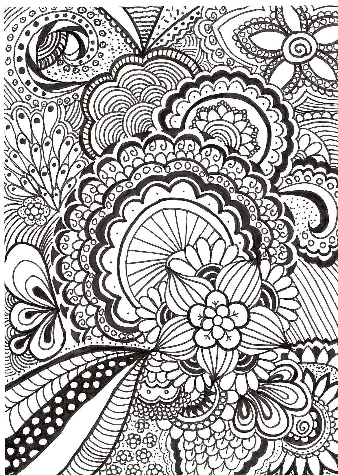 handgemaakte zentangle tekening zen met nei tekenen