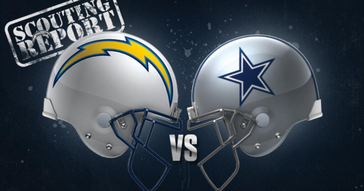 Scouting Report Chargers Vs Cowboys Cowboys Chargers Dallas Cowboys