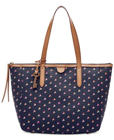 Fossil Sydney East West Hearts Shopper | Accessories ...