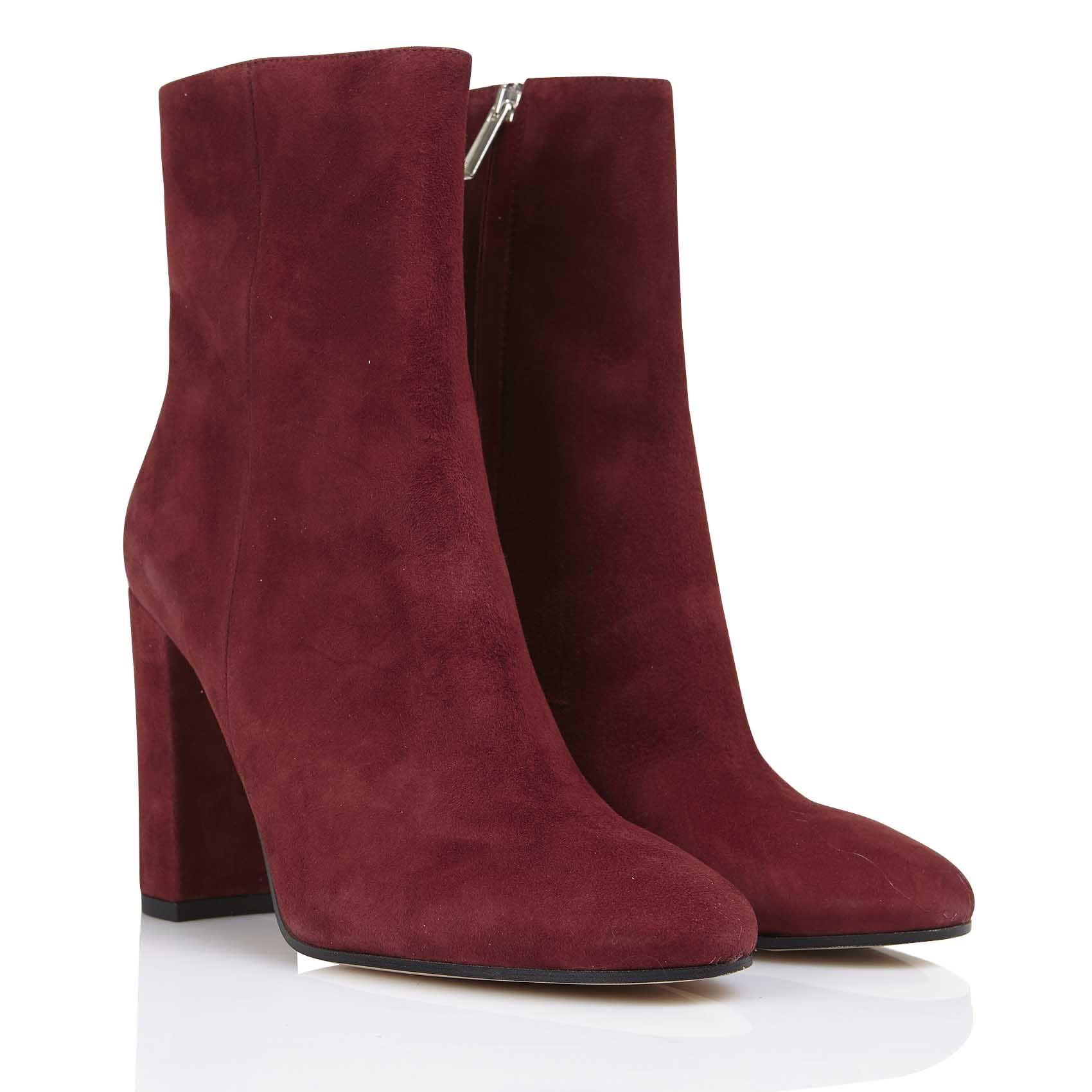 Zip, Bottines Classiques Femme, Rouge (Bordeaux), 41 EUL'autre Chose