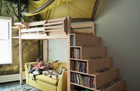 Etagenbett Treppe : 125 großartige ideen zur kinderzimmergestaltung kinderzimmer