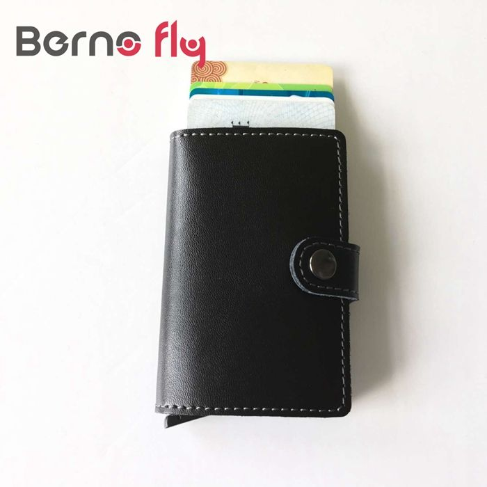 High quality PU Leather Antitheft Men Wallets Aluminum Credit Card ...