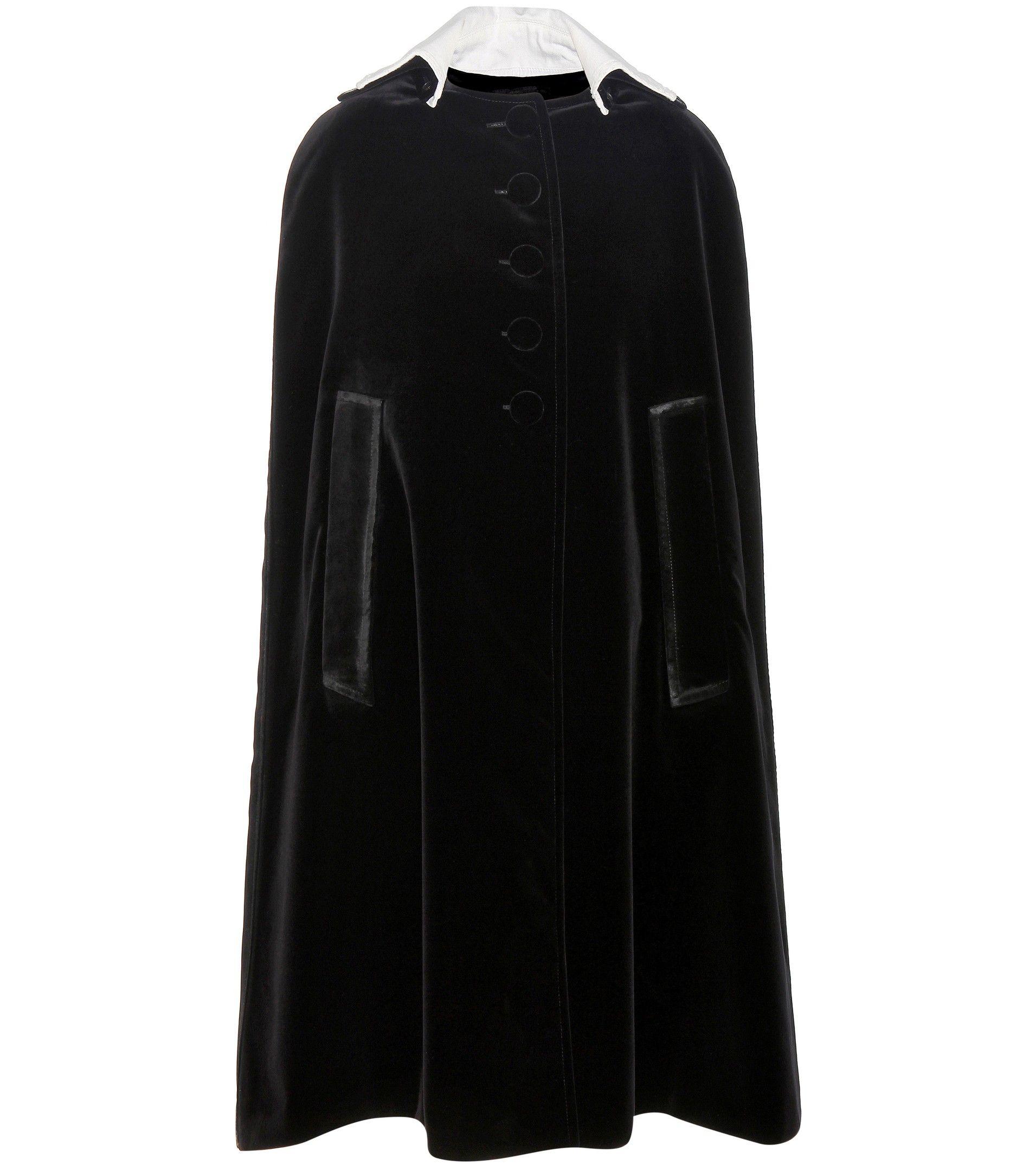 mytheresa.com - Velvet cape - Luxury Fashion for Women / Designer clothing, shoes, bags
