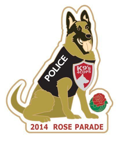 2014 K9s for Cops - Tournament of Roses - Rose Parade - http://flowersnhoney.com/2014-k9s-for-cops-tournament-of-roses-rose-parade/