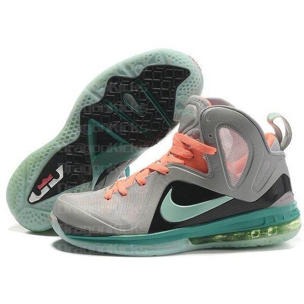 Nike Lebron 9 P.S Elite Basketball Shoes Grey/Green/Orange AML-088 via