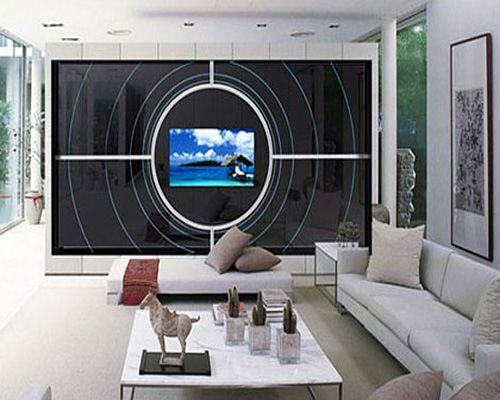 Hi tech interior hall style hi tech tech target for Hi tech living room designs