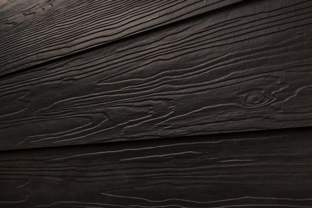 BuildDirect – Fiber Cement Siding - Premium 2 Coat Solid – Black - Angle View