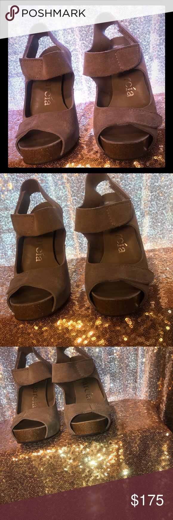 1a5a214e20132 Pedro Gracia Women's Tan Suede High Heel Sandal Pedro Gracia Women's Tan  Suede High Heel Sandal Sz.38. Display Shoe. Never Worn. Excellent Condition.