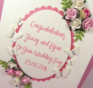 Wedding Card Using Paper Flowers And Spellbinder Dies Things I