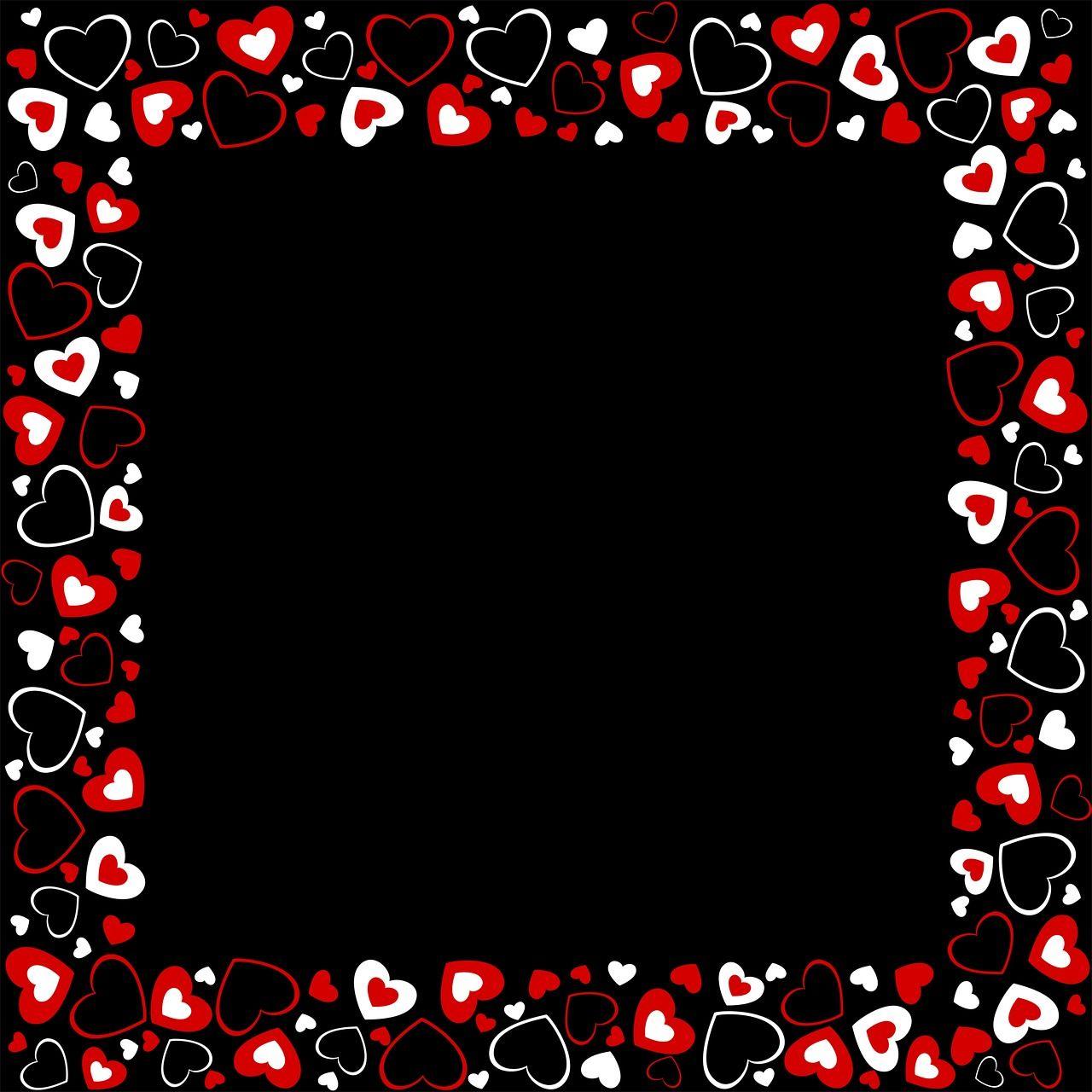 Imagen gratis en Pixabay - Marco, Corazones, Corazón, Rojo | Pinterest