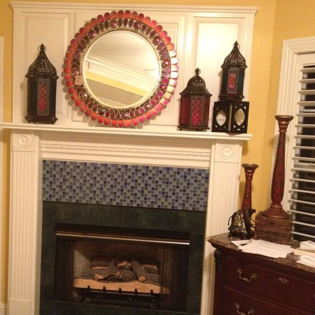 Updated Moroccan fireplace