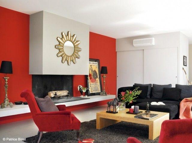 Deco Salon Beige Et Rouge - Rellik.us - rellik.us