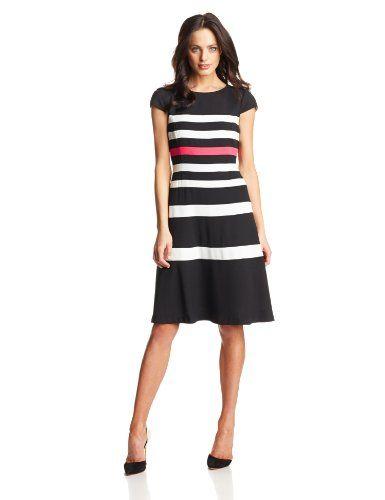 Anne Klein Women's Color-Block Swing Dress $109.65