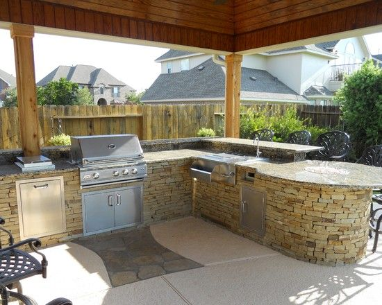 Keep The Entertainment Going When The Weather Turns Nice Everything A Chef Needs Can Be Found In Outdoor Kitchen Design Outdoor Barbeque Build Outdoor Kitchen