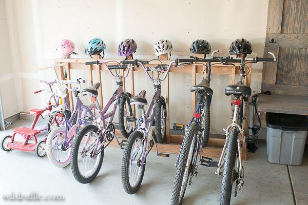 Bike u0026 Helmet Rack DIY & Bike u0026 Helmet Rack DIY | Garage | Pinterest | Bike helmets Helmets ...
