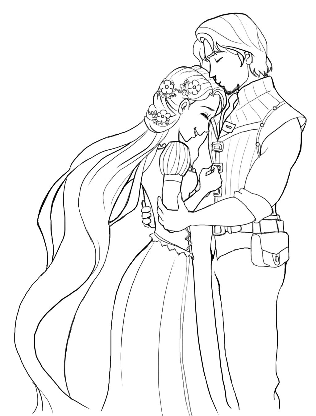 Rapunzel Is Very Happy Wedding Coloring Pages Princess Coloring Pages Rapunzel Coloring Pages