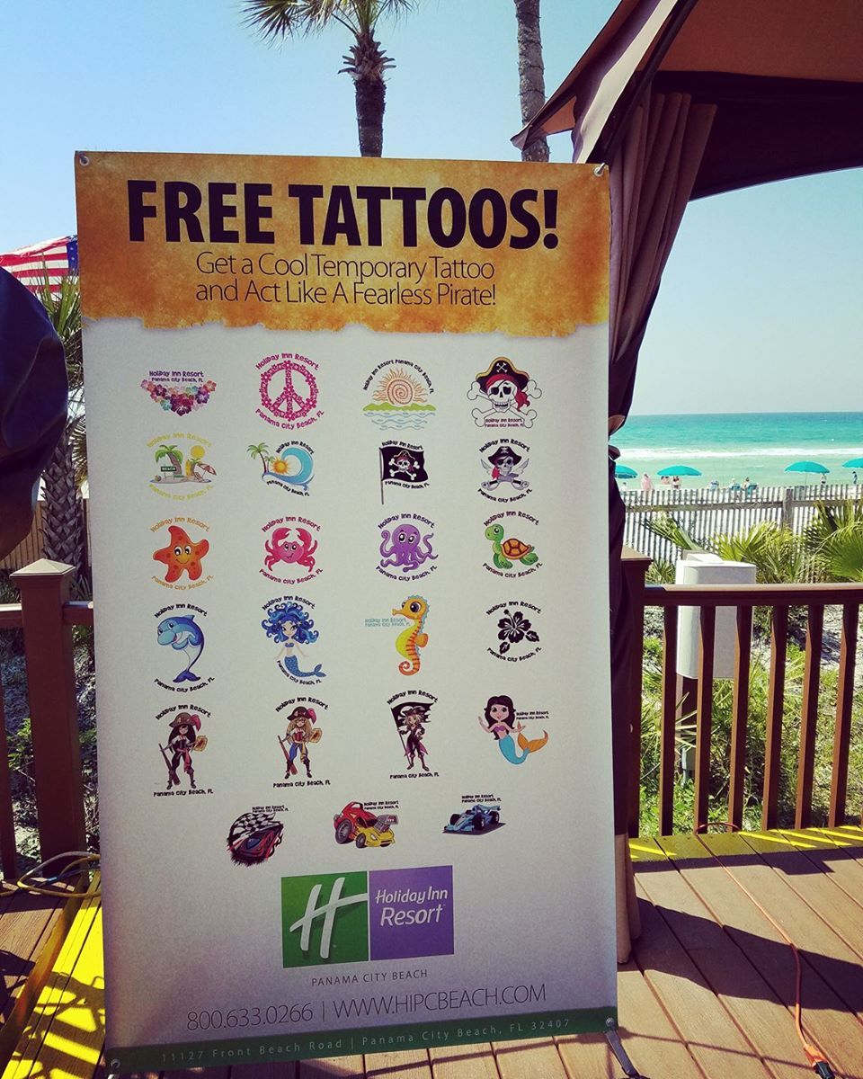 Complementary Temporary Tattoos!