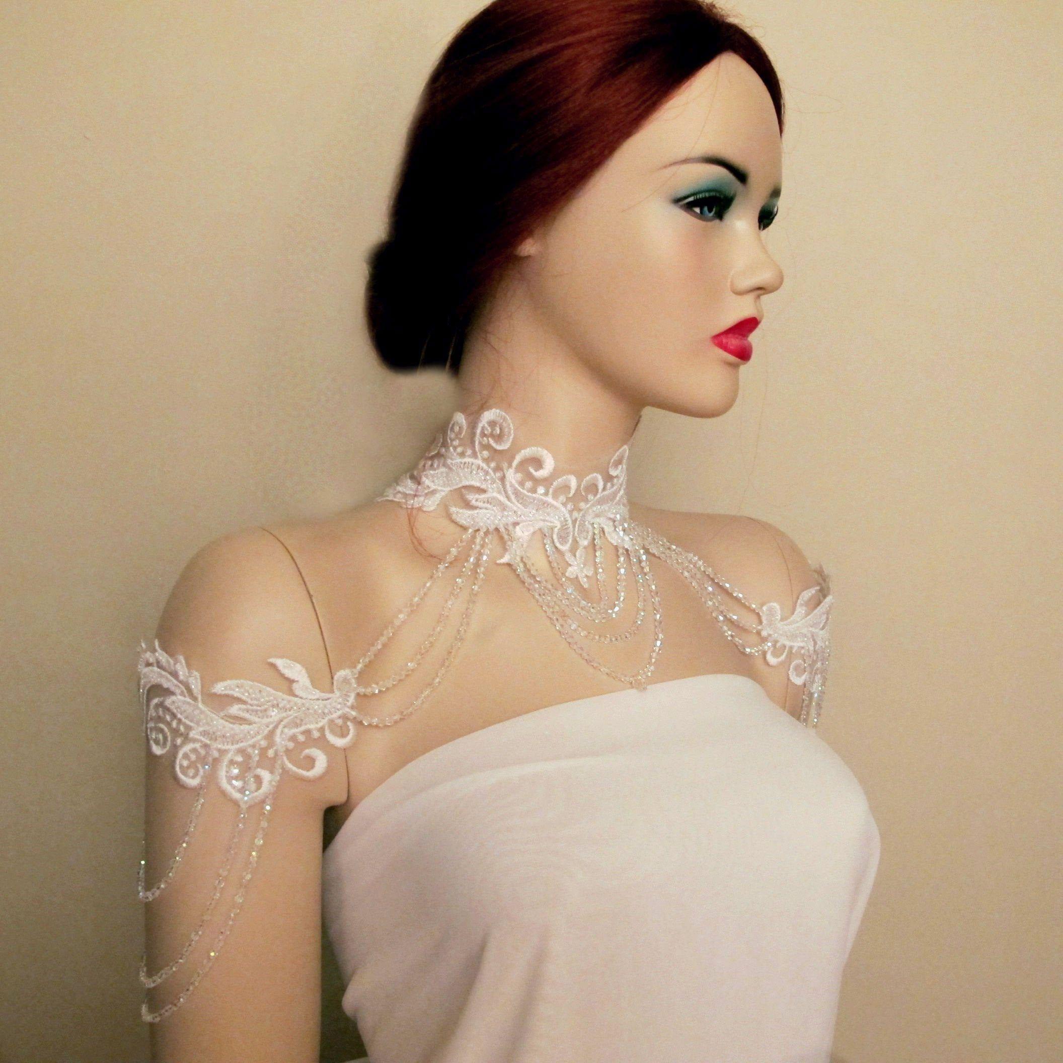 Bridal Shoulder Jewelry Detachable Wedding Off Shoulder