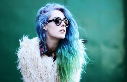 coloured ombré hair